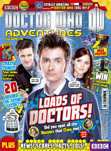 David Tennant is on the cover of Doctor Who Adventures Magazine