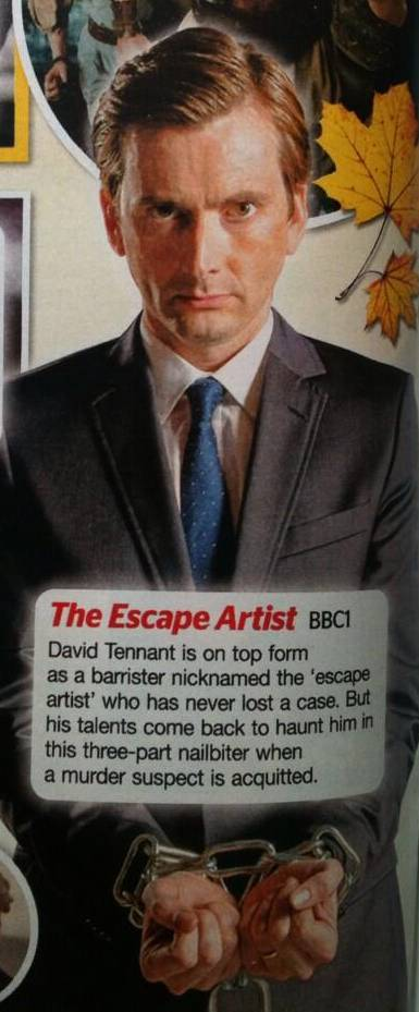David Tennant in The Escape Artistfrom TV Choice magazine